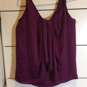 Diane von Furstenberg purple drape twist top sz 6